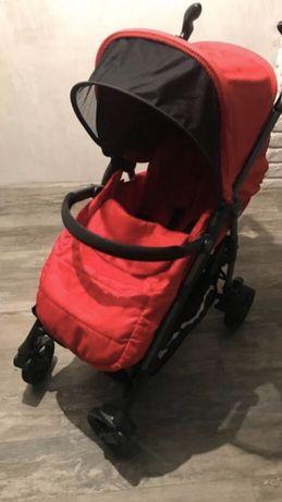 Детская летняя коляска трость Peg Perego Si красного цвета
