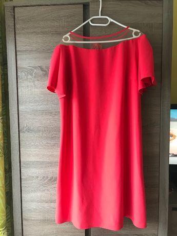 Sukienka na przyjęcie koralowa