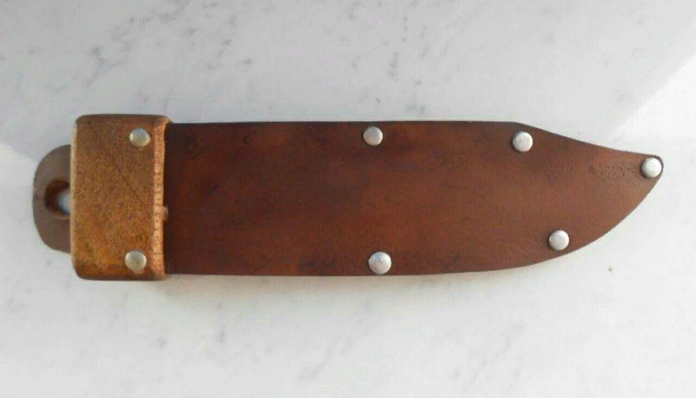 Чехол-ножны из натуральной кожи для охотничьего ножа. Мариуполь - изображение 1