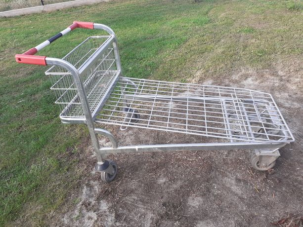 Wózek transportowy sklepowy aluminiowy