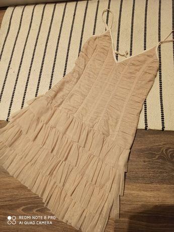 Sukienka z falbanami rozm. 146/152