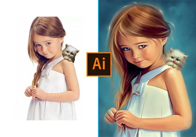 Proekty Graficzne Wektor 2D | Rysunek ze zdjęcia | Fototapety | Nadruk