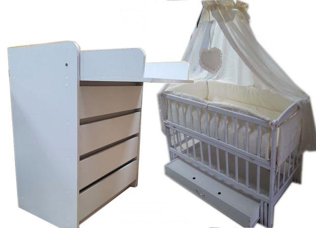 Акция! Комплект: кровать маятник, комод, матрас кокос, постель