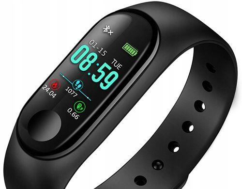 PROMOCJA! Smartband SmartWatch Opaska Zegarek KROKOMIERZ M3