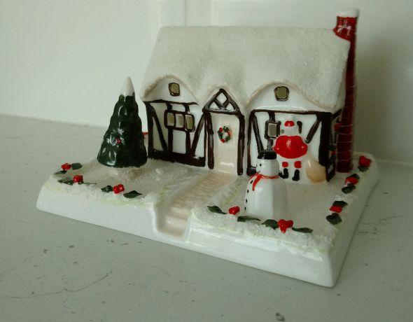 Christmas Cottage Coalport Фарфоровая Новогодняя фигурка Англия фарфор