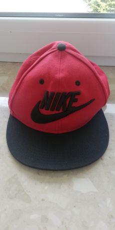 Czapka z Prostym daszkiem Nike Czerwono Czarna