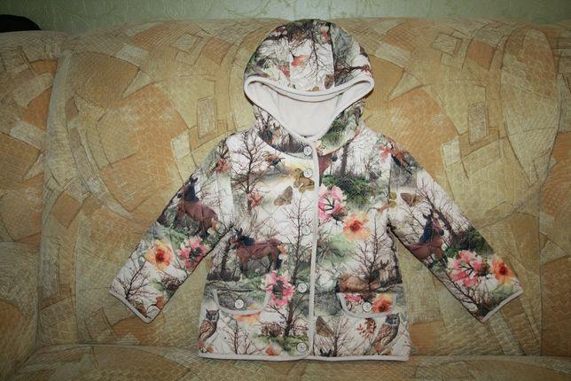 Стеганная демисезонная куртка Next, размер 3-4 года