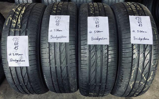 Opony letnie 195/65/15 Bridgestone, 5.01mm, montaż