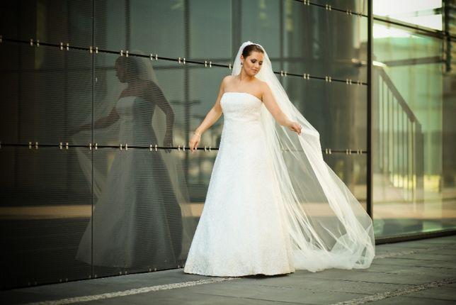 Suknia Ślubna roz. 38 Ivory / White koronka