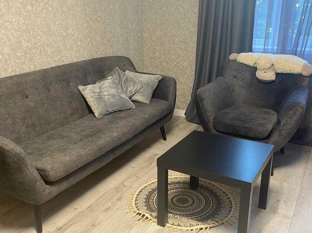 Прямой диван и кресло (набор)