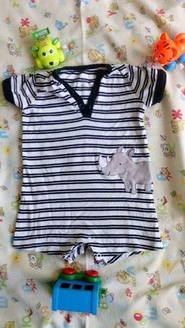Пакет летней одежды для мальчика от 6мес Песочники боди