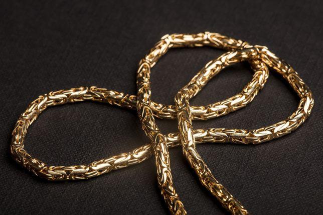 Złoty Łańcuch Splot Królewski 14K-585 pr.Nowy!!!