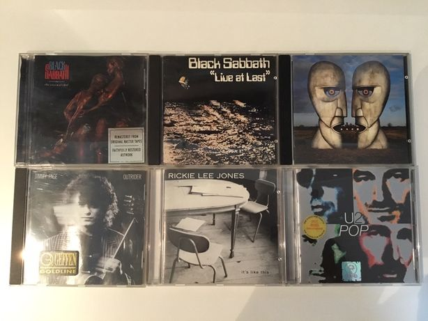CD s Black Sabbath, Jimmy Page, U2 , Pink Floyd