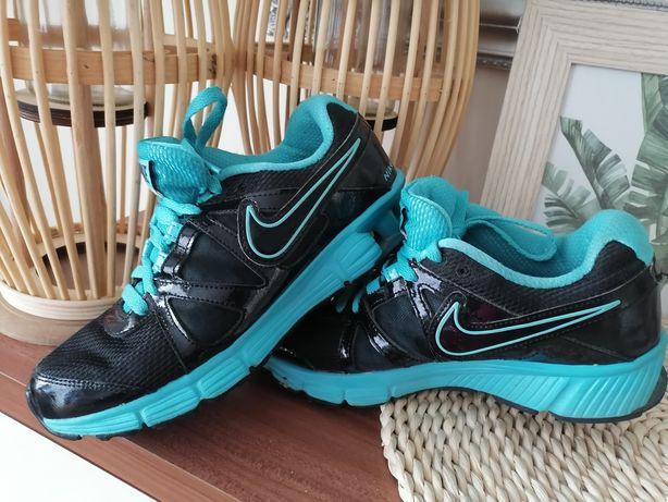Buty nike 39 czarne niebieskie morskie połysk