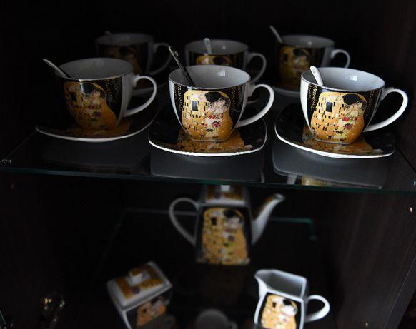 komplet porcelany Klimt Pocałunek nie używane