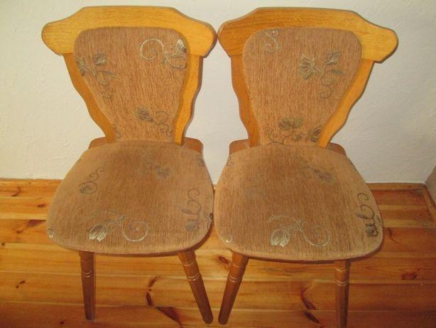 Dwa solidne krzesła drewniane OKAZJA