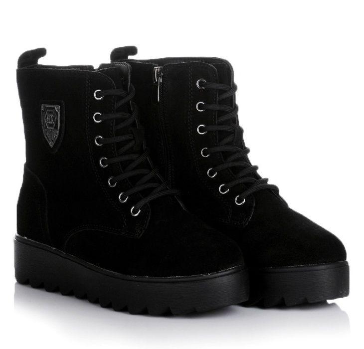 Черные женские ботинки кроссовки зимние зима обувь! 36-41 ХИТ! НАЛОЖКА Днепрельстан - изображение 1