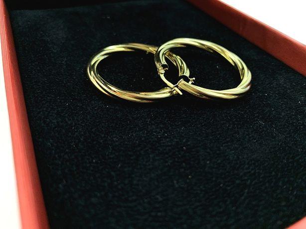 Złote kolczyki duże koła p.585 4,39 g