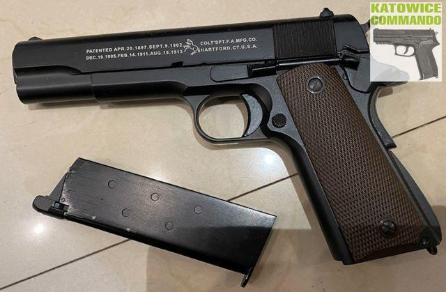 Replika pistolet Colt M1911 asg green gas KJ WORKS