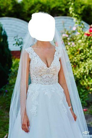 Sprzedam Piękną Suknie Ślubną rozmiar 36