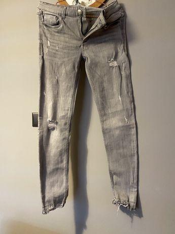 Spodnie jensowe szare