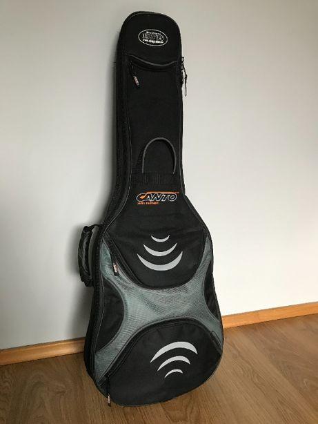 gitara elektryczna AXL, pokrowiec, skórzany pasek + Fender Mustang I