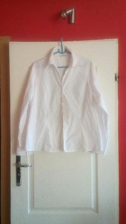 Bluzka koszulowa biała długi rękaw George i 3/4 biust 108 i 110 cm