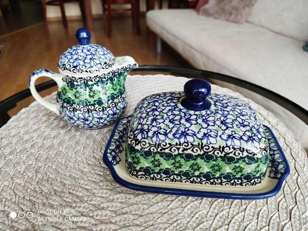 Zestaw śniadaniowy - ceramika artystyczna Bolesławiec