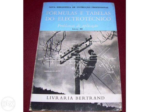 Fórmulas e tabelas do electrotécnico (problemas de aplicação)