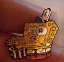 детский значок брошь Спанч Боб Губка Боб Sponge Bob металл брошка