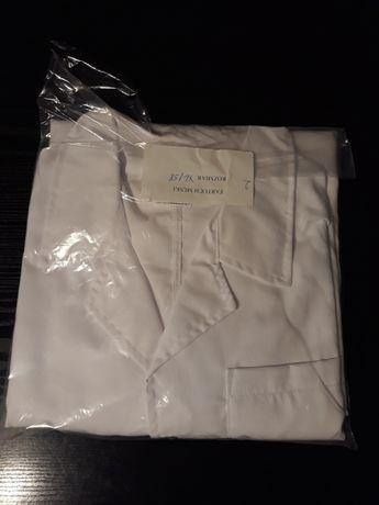 Biały fartuch męski krótki rękaw 58