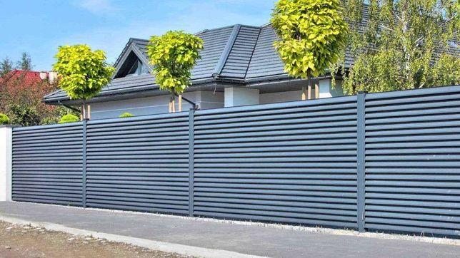 Забор из профнастила, профлиста, ворота калитки, навесы, Забор жалюзи!