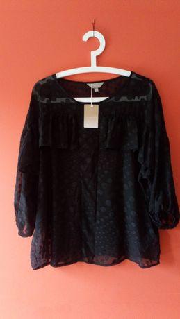 Bluzka czarna w kropki ANTHOLOGY roz,XL