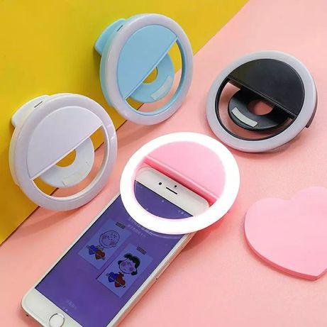 Светодиодный кольцевой светильник для селфи, новинка,для макияжа