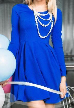 Платье синее 44 размер новое