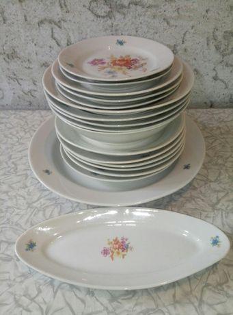 Сервиз столовый Дулево фарфоровый набор неполный посуда тарелки ссср