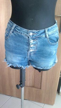 spodenki jeansowe z wysokim stanem/M