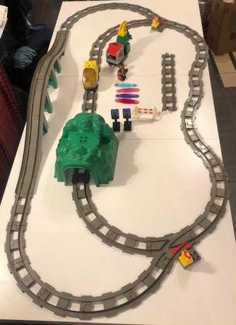 LEGO Duplo kolejka inteligentna pociąg 3335 tunel wiadukt mega zestaw