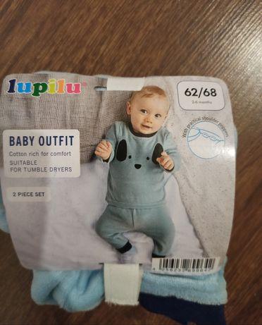 Набор комплект костюм штаны и кофта Лупилу для мальчика Lupilu 62/68