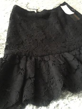 Spódnica PHILISOPHY z baskinką, koronkowa czarna S luxury USA