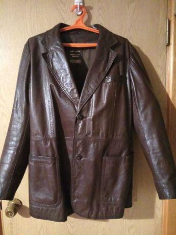 Кожаный пиджак-куртка мужской немецкий 54р.