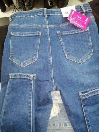 Piękne klasyczne jeansy jakoś premium rurki wysoki stan
