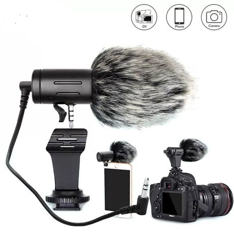Mikrofon do aparatu, kamery, smartfona vlog, YouTube