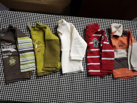 Bluzeczki chłopięce 74-80cm