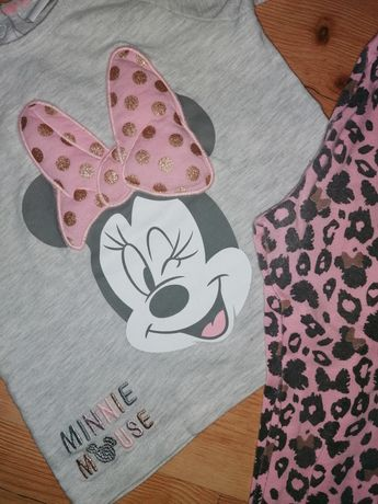 Komplet Disney Myszka Minnie legginsy 80/86cm