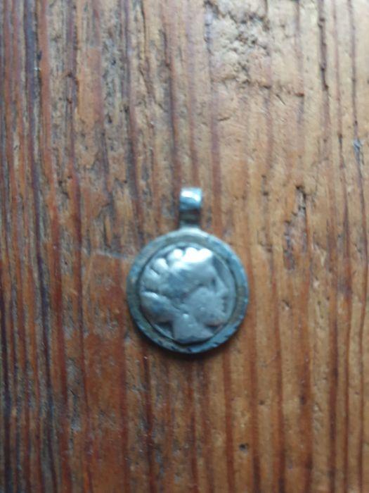 Starożytna moneta grecka w wisiorku Warszawa - image 1
