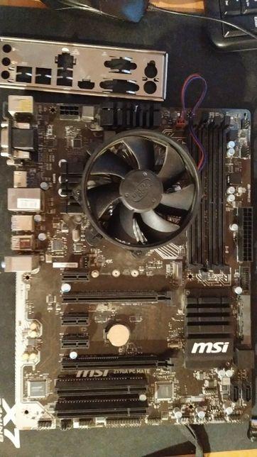 Материнская плата MSI Z170A pc mate c intel core i5 6500