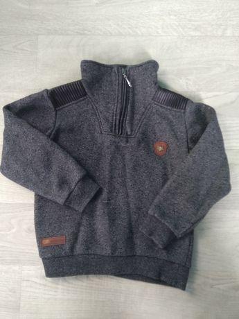 Крутой свитер с кожаными вставками для мальчика!