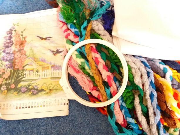Набор для вышивания ткань канва нитки акрил