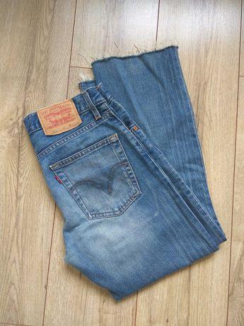 Spodnie jeans Levi's 518 przetarcia 7/8